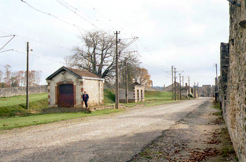 The Tram and Goods Station in Oradour